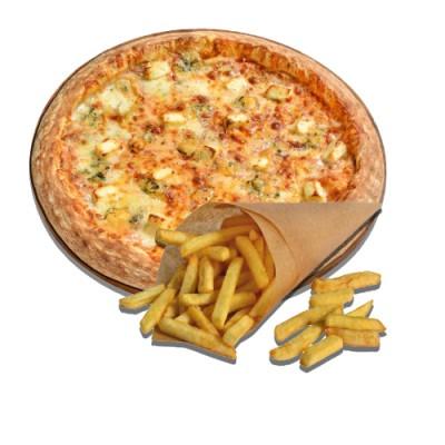 Пицца 4 Сыра + Картофель Фри
