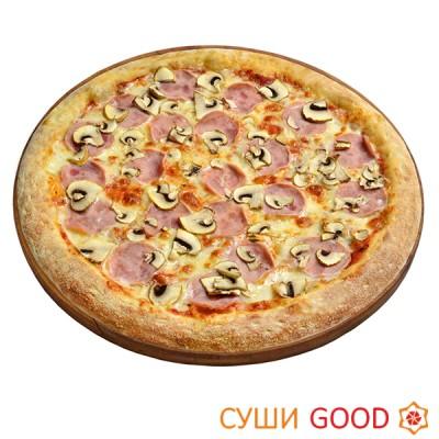Пицца Ветчина Грибы со скидкой 100 руб.