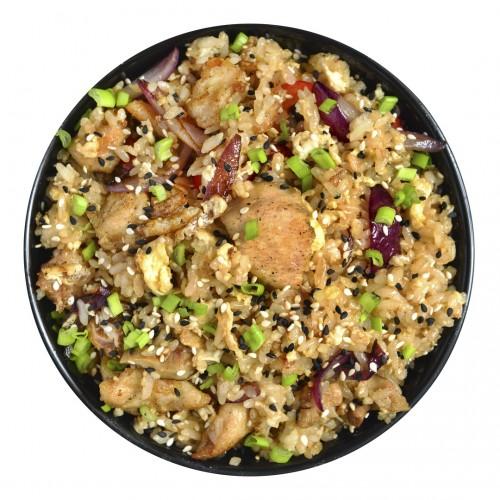 Курица с рисом в пикантном соусе